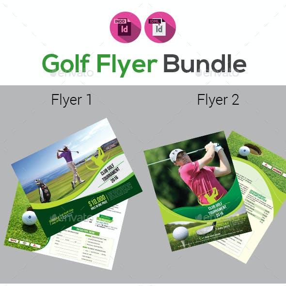 Golf Tournament Flyers Bundle V2