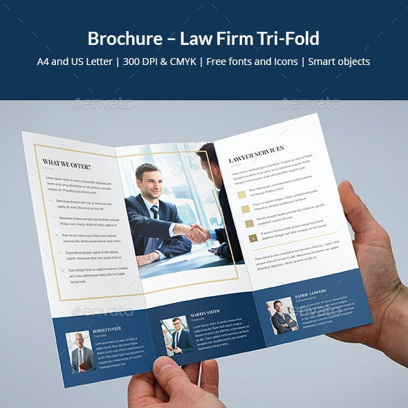 Brochure – Law Firm Tri-Fold