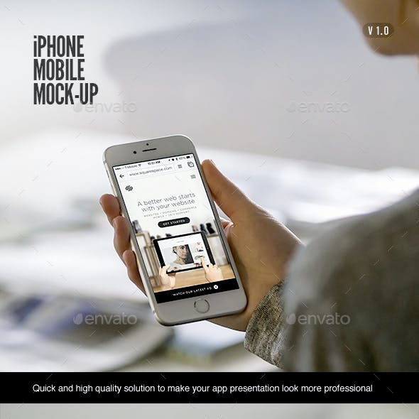 Mobile Phone Mock-Up | Holding Device Edition