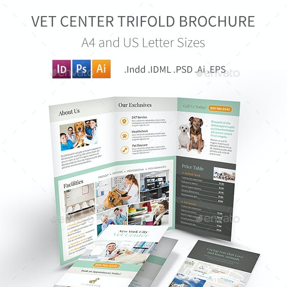 Vet Center Trifold Brochure