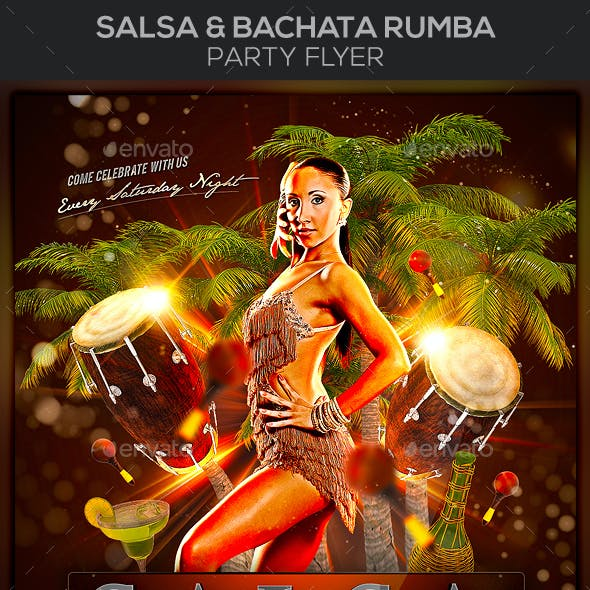 Salsa & Bachata Rumba Party Flyer