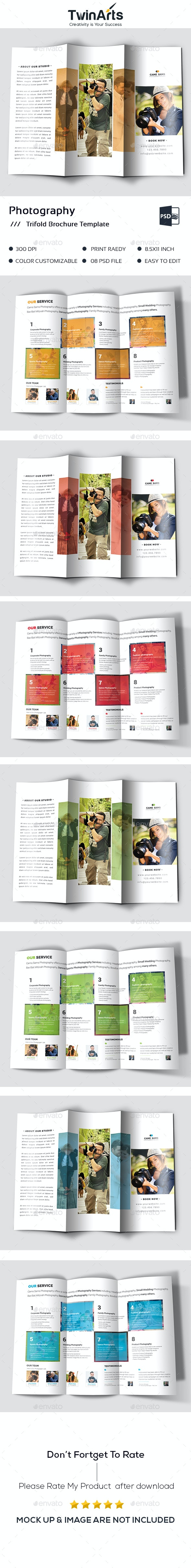 Photography Trifold - Brochures Print Templates