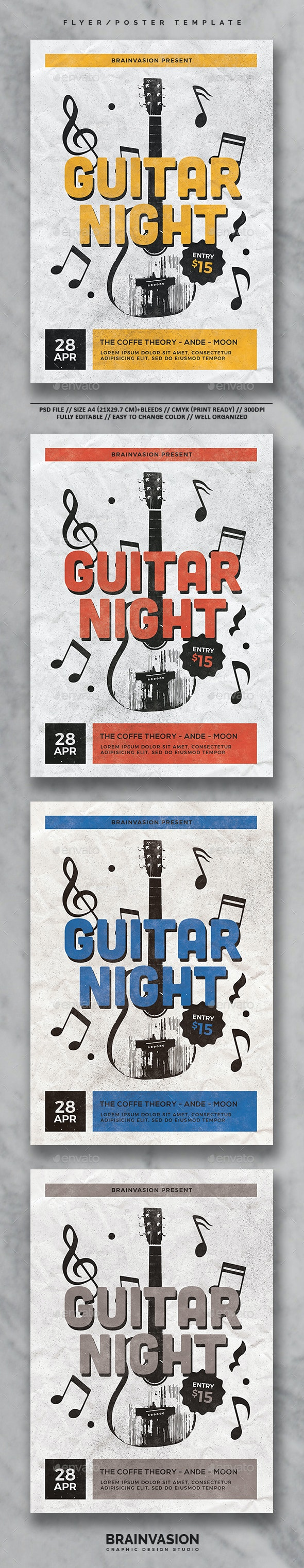 Indie Flyer/Poster Template Vol.25 - Concerts Events