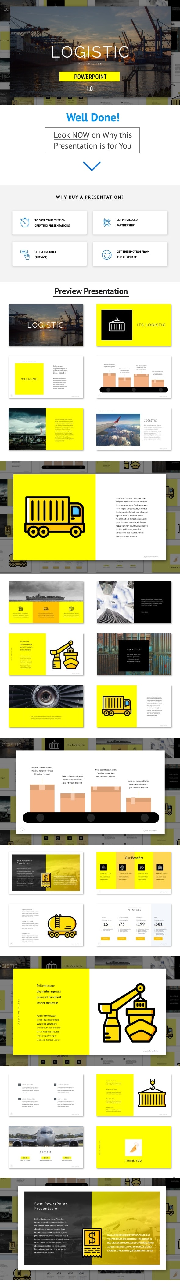 Logistic - Powerpoint Template - PowerPoint Templates Presentation Templates