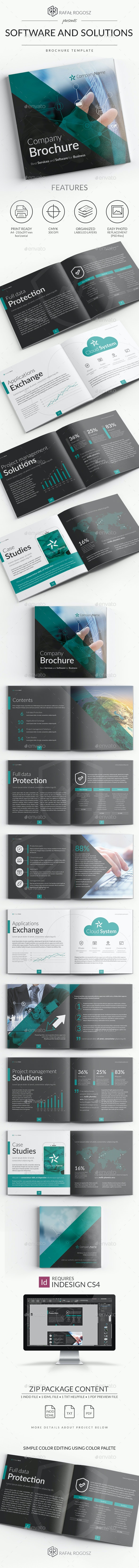 Software and Solutions Brochure - Brochures Print Templates