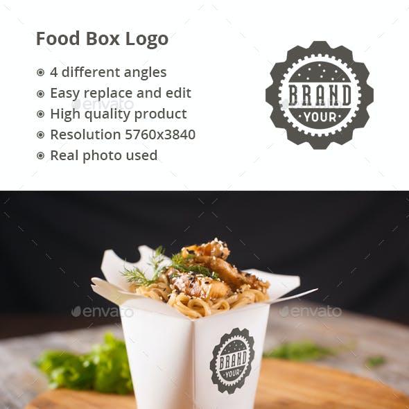 Food Box Logo Mock-up