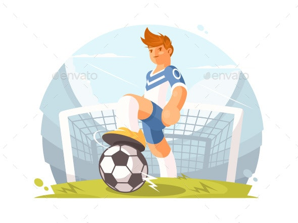 Cartoon Character Football Player - People Characters