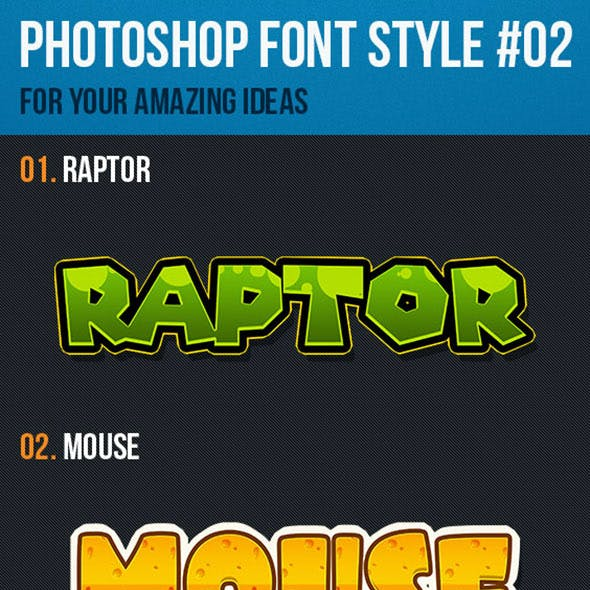 10 Font Style for Game Logo #02