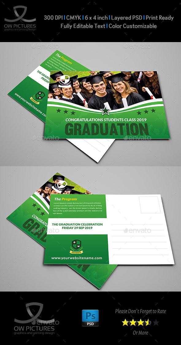 Graduation Postcard Template - Cards & Invites Print Templates