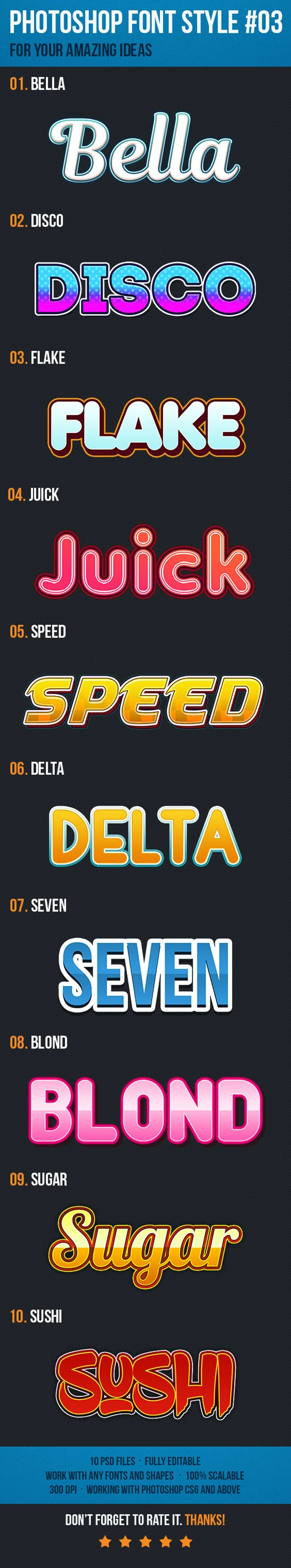 10 Font Style for Game Logo #03 - Text Effects Actions