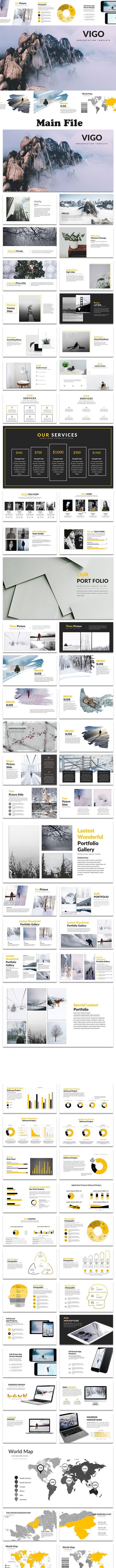 Vigo - Creative Google Slide Template - Google Slides Presentation Templates