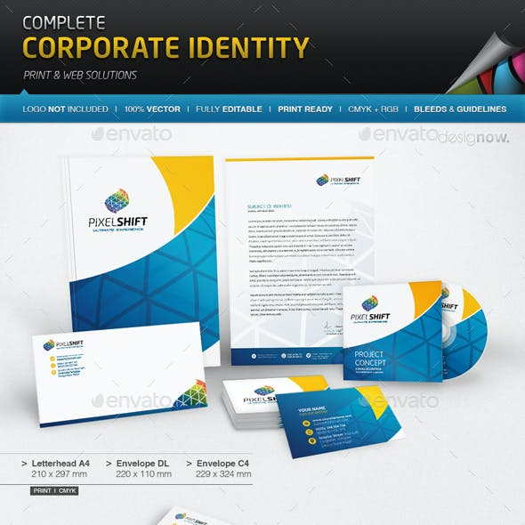 Corporate Identity - Pixel Shift