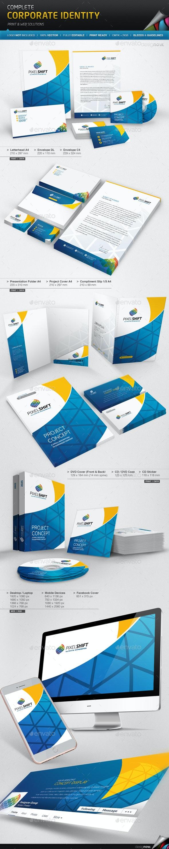 Corporate Identity - Pixel Shift - Stationery Print Templates