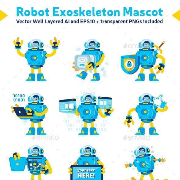 Robot Exoskeleton Mascot