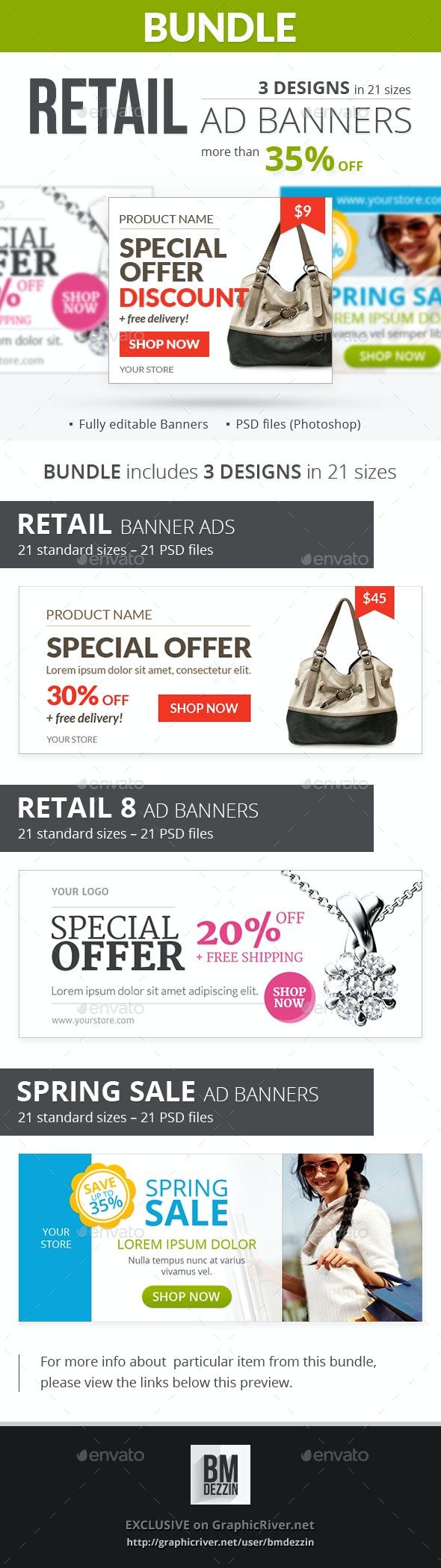 Retail Banner Ads - Bundle 2 - Banners & Ads Web Elements