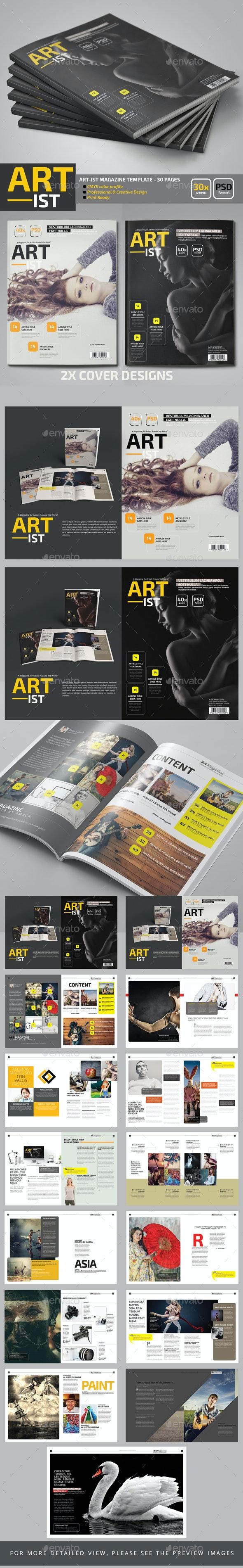 Art-ist Magazine Template - Magazines Print Templates