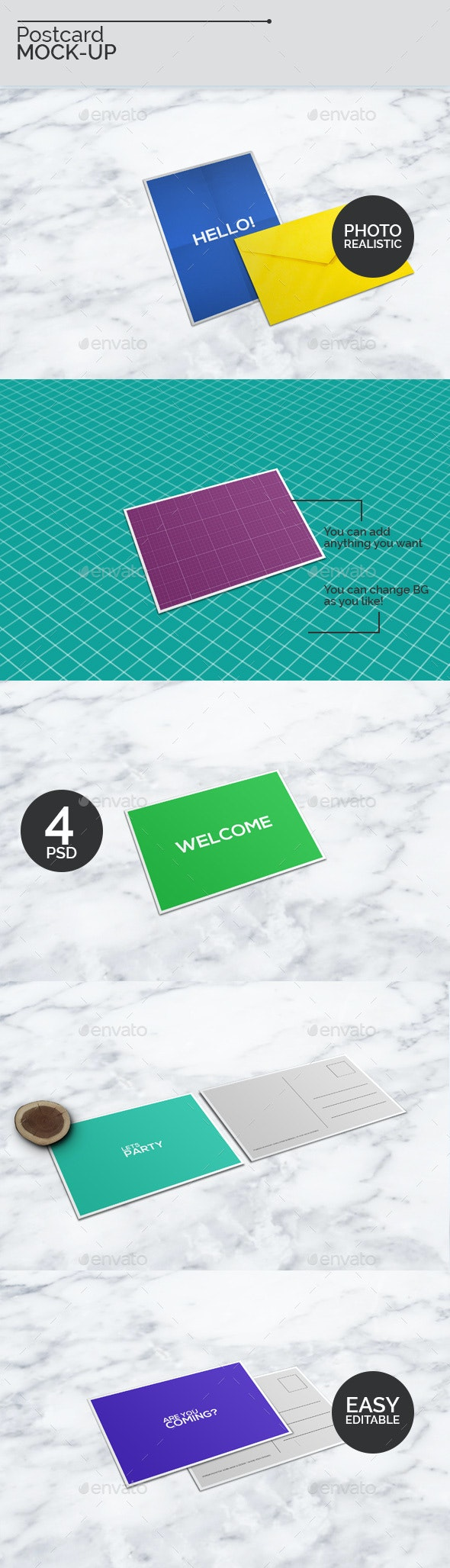 A6 Postcard Mock-Ups - Miscellaneous Print