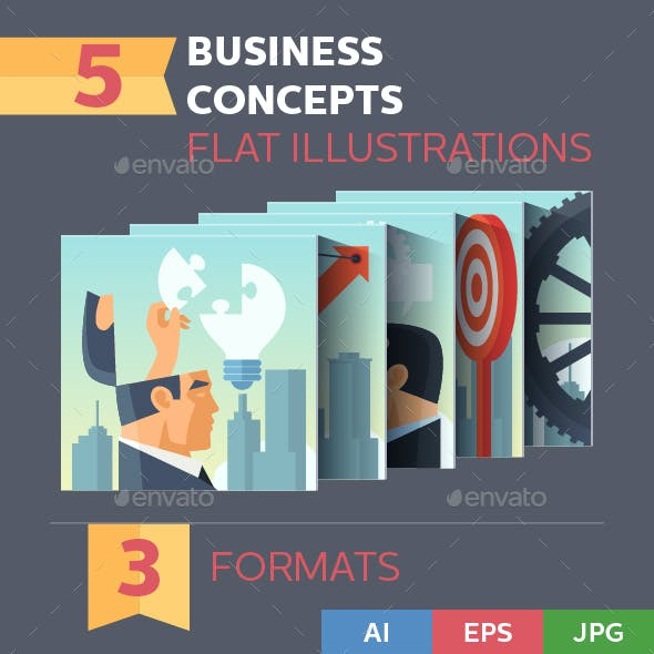 Business Concepts Illustrations