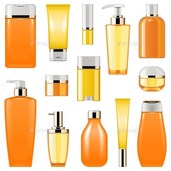 Vector Cosmetic Packaging Icons Set 8 - Health/Medicine Conceptual