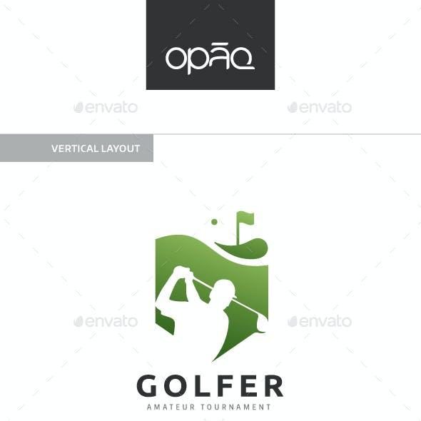 Golfer Swing Logo