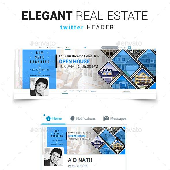 Elegant Real Estate Twitter Header
