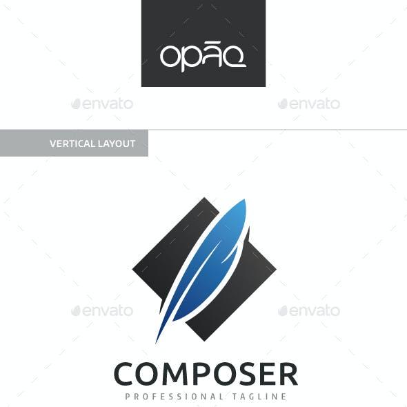 Calligraphic Feather Logo
