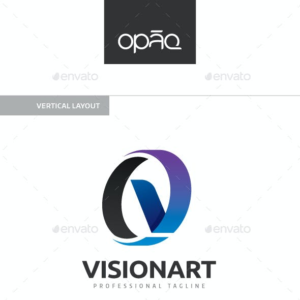 Visionart V Letter Logo
