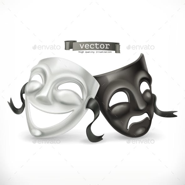 Black and White Theatrical Masks