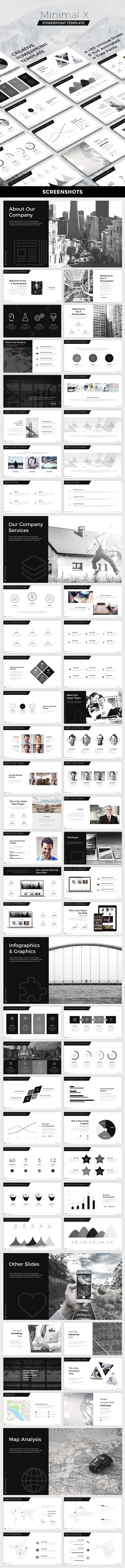 Minimal X Powerpoint Template - Creative PowerPoint Templates
