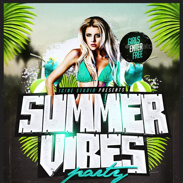 Summer Vibes Party Flyer Template