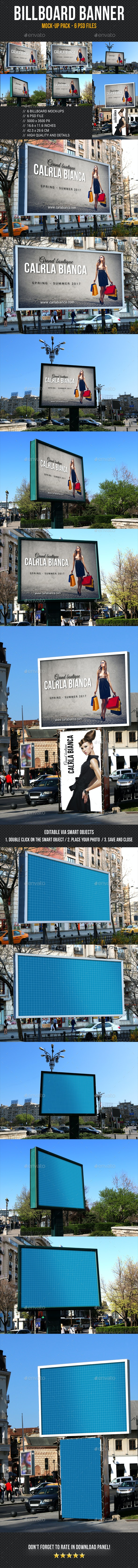 Billboard Banner Mock-Up Pack - Signage Print