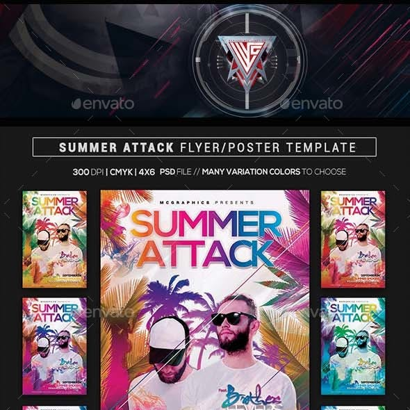 Summer Attack Flyer/ Poster Template