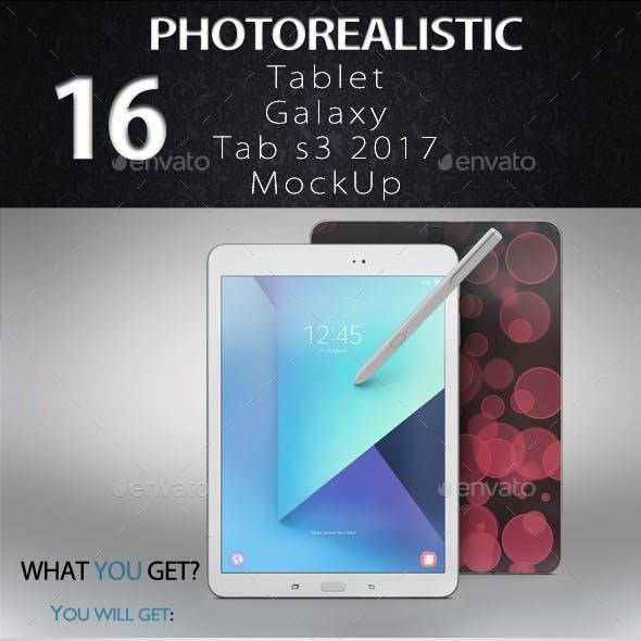 Tablet Galaxy Tab s3 2017 App & Skin MockUp