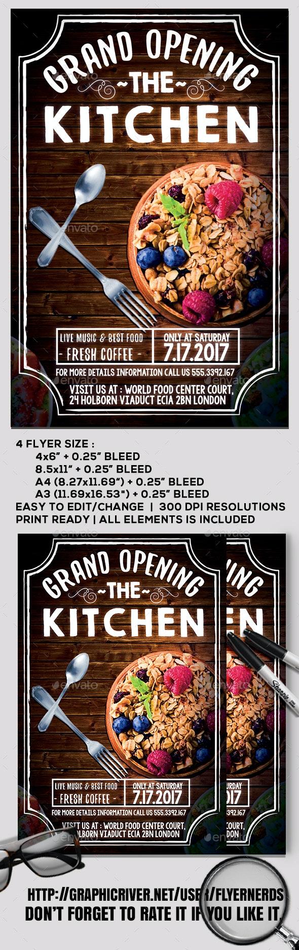 Restaurant Grand Opening Flyer - Restaurant Flyers
