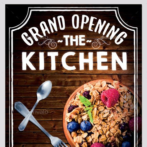 Restaurant Grand Opening Flyer