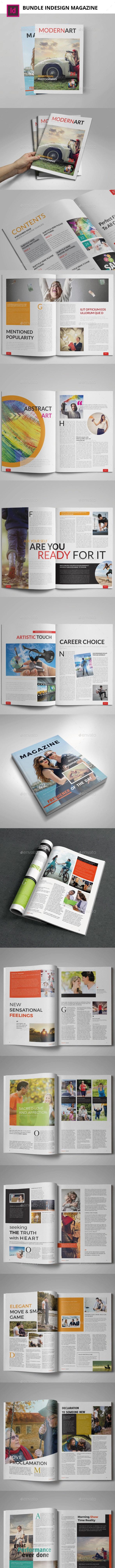 Bundle 5th Magazine Templates - Magazines Print Templates