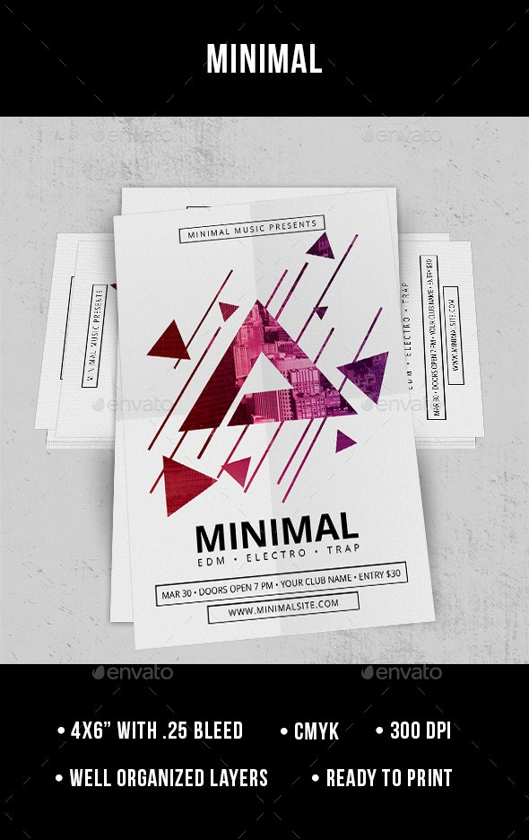 Minimal - Flyer - Clubs & Parties Events