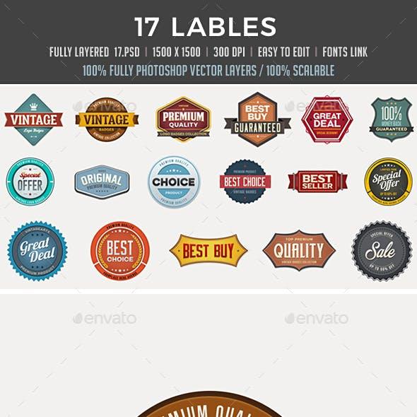17 Badges