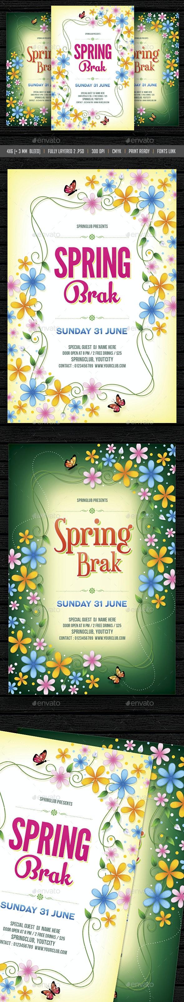 Spring Break - Events Flyers