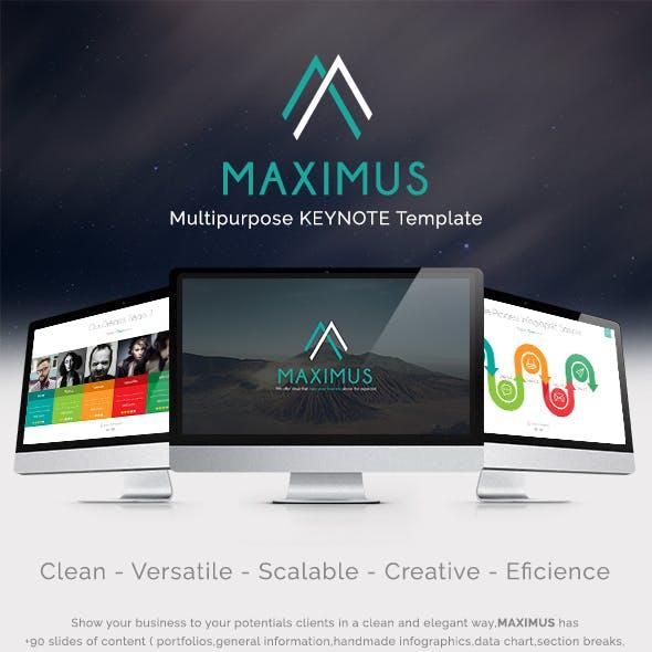 MAXIMUS - Keynote Multipurpose Presentation Template