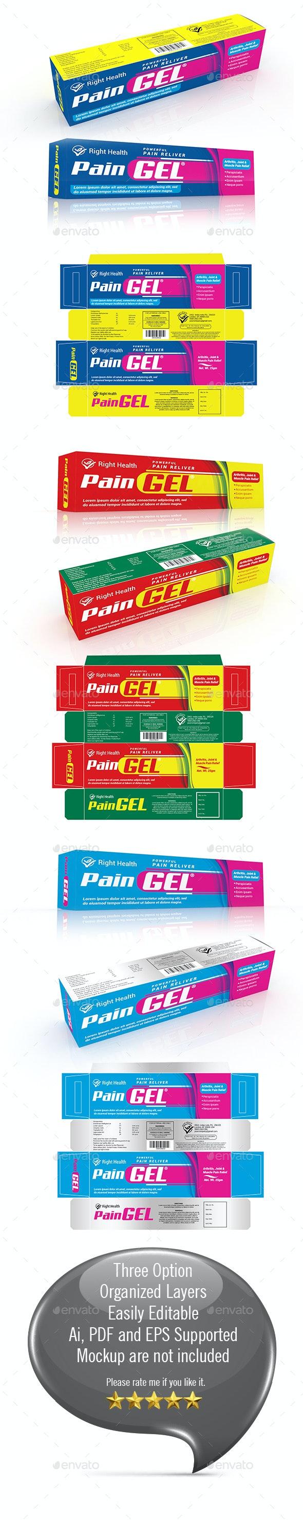 Gel Tube Box Template - Packaging Print Templates