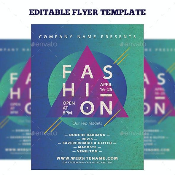 Minimal Style Fashion Event Flyer