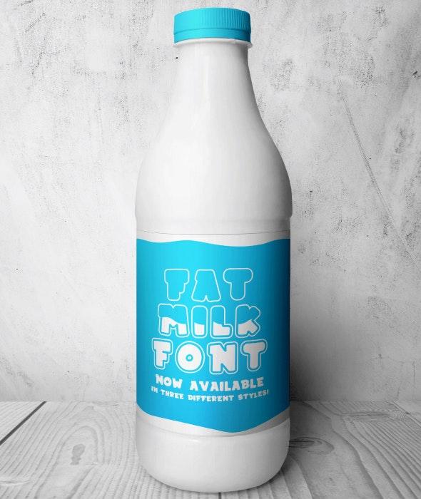 Fat Milk - Decorative Fonts