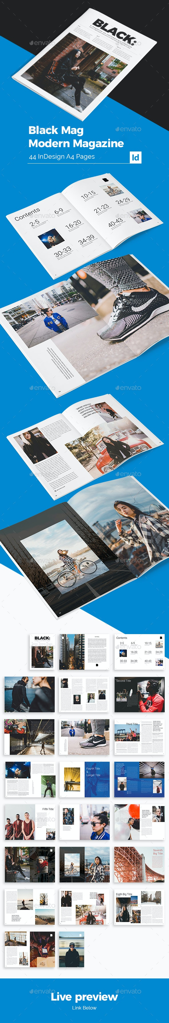 Black Modern Magazine - Magazines Print Templates
