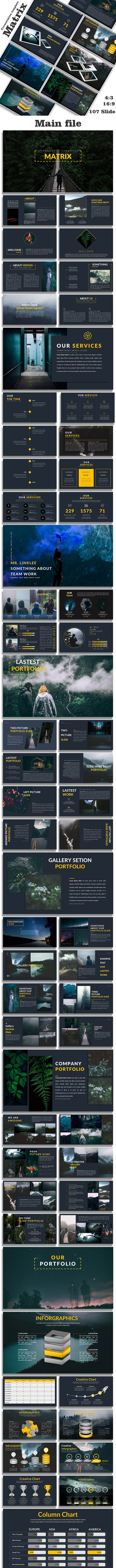 Matrix - Creative Google Slide Template - Google Slides Presentation Templates