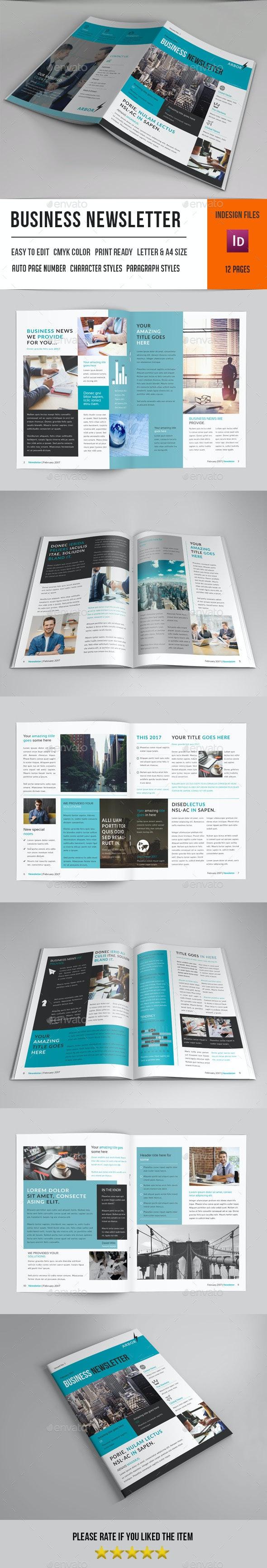 Business Newsletter-V12 - Newsletters Print Templates
