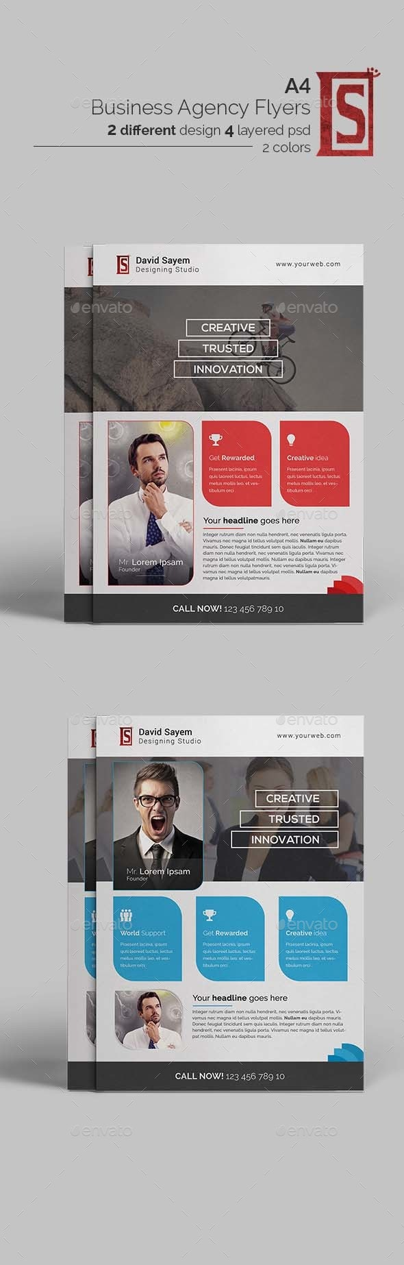 Modern Business Agency Flyer/Poster Tmplate - Corporate Flyers