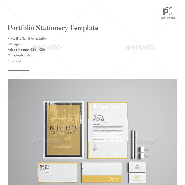 Portfolio Stationery Template