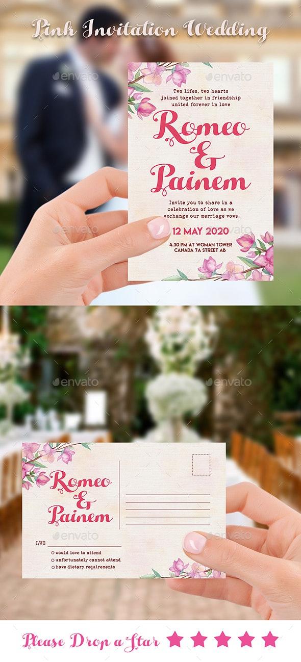 Invitation Wedding Pink - Weddings Cards & Invites