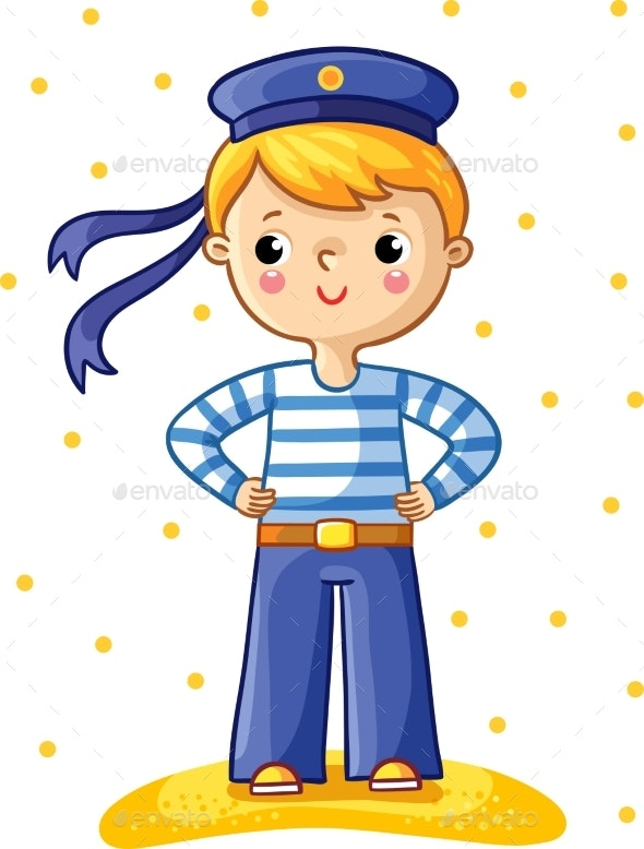 Young Sailor Cartoon Character - People Characters